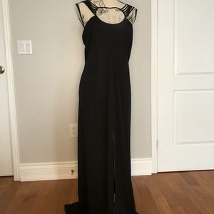 Elegant After Six black dress by Ronald Joyce